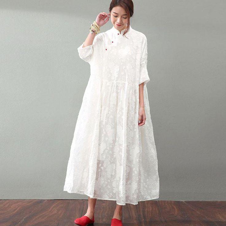 Elegant Jacquard Lace Women Dress
