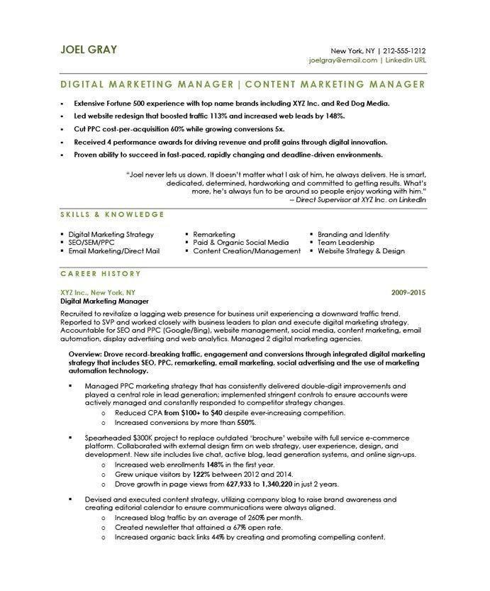 Social Media Marketer Resume Stylish Digital Marketing Manager Free Resume Samples Of 34 Luxu Digital Marketing Manager Free Resume Samples Marketing Resume