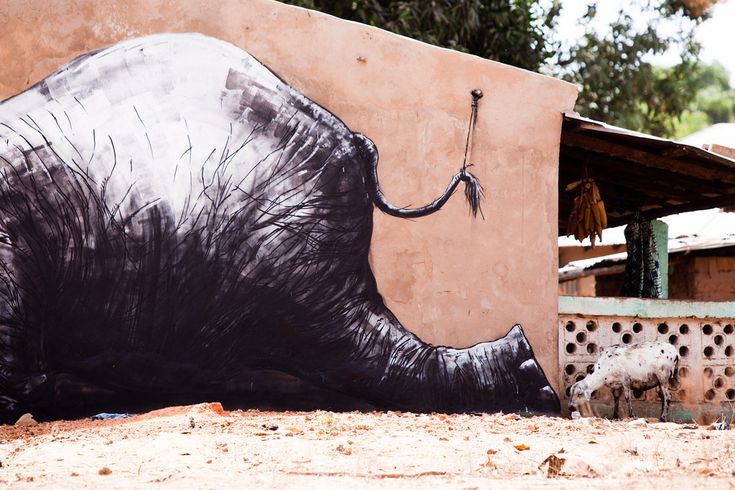 50 Animals in Street Art Graffiti by ROA, Belgian (27)