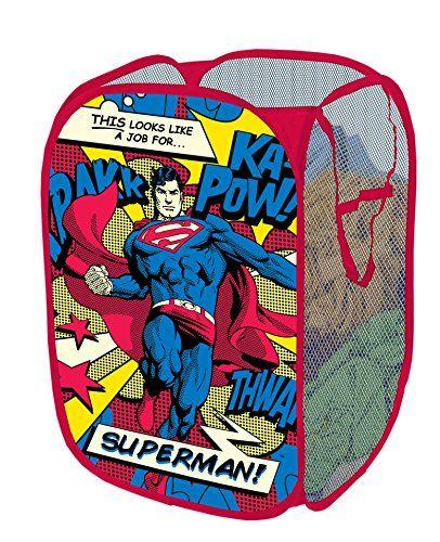Warner Brothers Superman Collapsible Pop Up Hamper Warner Brothers http://www.amazon.com/dp/B00LOR0GXE/ref=cm_sw_r_pi_dp_h7OZub01C0SF3
