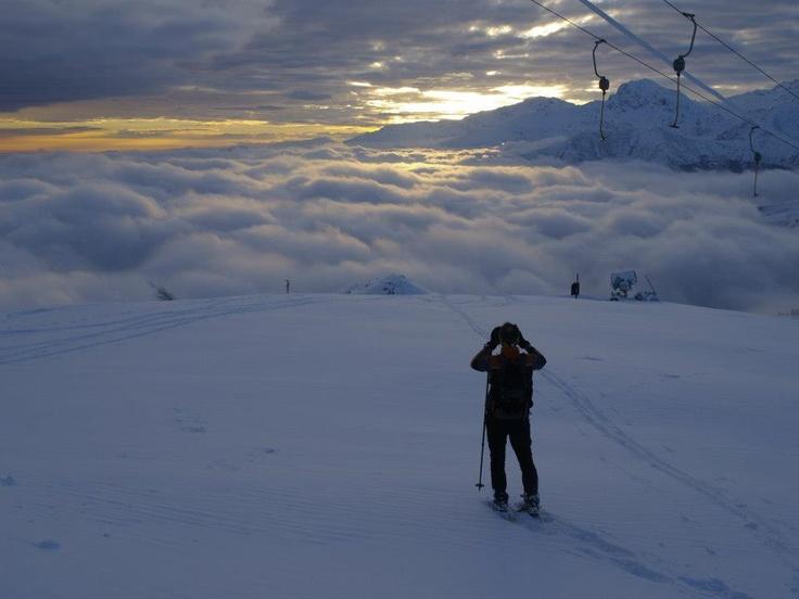 Spectacular sunset in Bielmonte. Enjoy the show! #snow #winter Oasi Zegna, #Italy www.oasizegna.com
