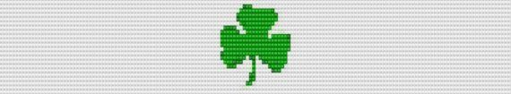 Clover Shamrock Bracelet Seed Bead Pattern for by polymerclaybeads, $3.00