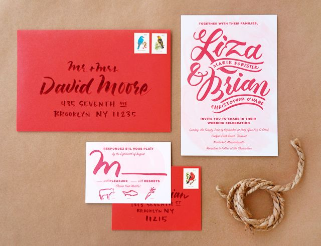 398 best modern invites paper images on pinterest invitations liza brians casual brush lettered wedding invitations stopboris Image collections