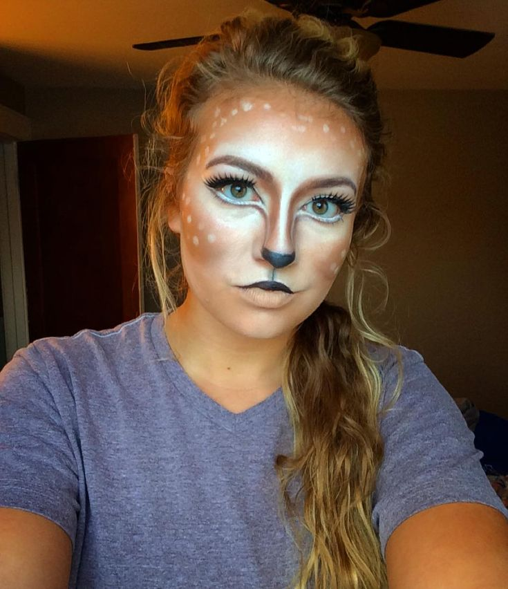 Doe a deer a female deer! I was super bored and feeling creative today! #halloweenmakeup #deermakeup #makeup #halloween by looks_by_brook