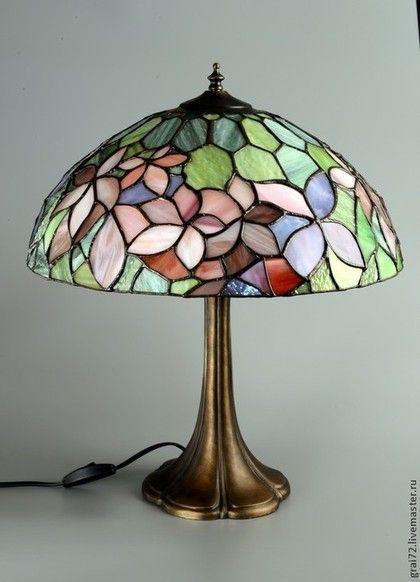 Настольная лампа WOODBINE - Витраж,Витраж Тиффани,витражное стекло,стекло