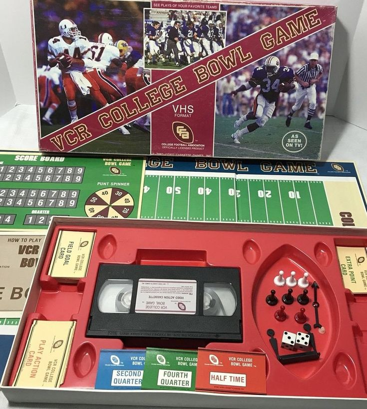 1987 VCR College Bowl Board Game 100% Complete Vintage