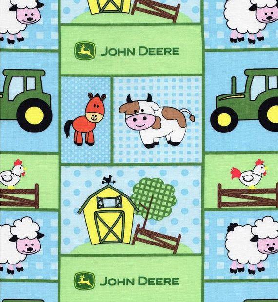 Baby John Deere Tractor Fabric   Baby Boy John Deere Fabric   Farm Animal Fabric   Tractor Fabric   John Deere Baby