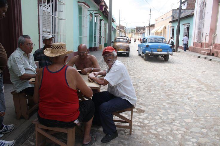 Een potje kaarten met de Cubanen <3
