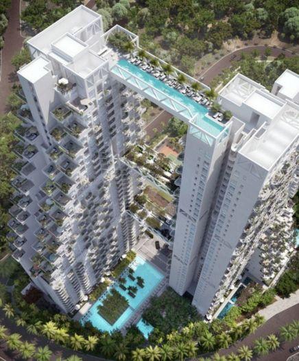 Prédio mais caro do mundo - Cingapura: Architects, Sky, Swim Pools, Swim Bridges, Architecture, Places, Singapore, Design, Hotels