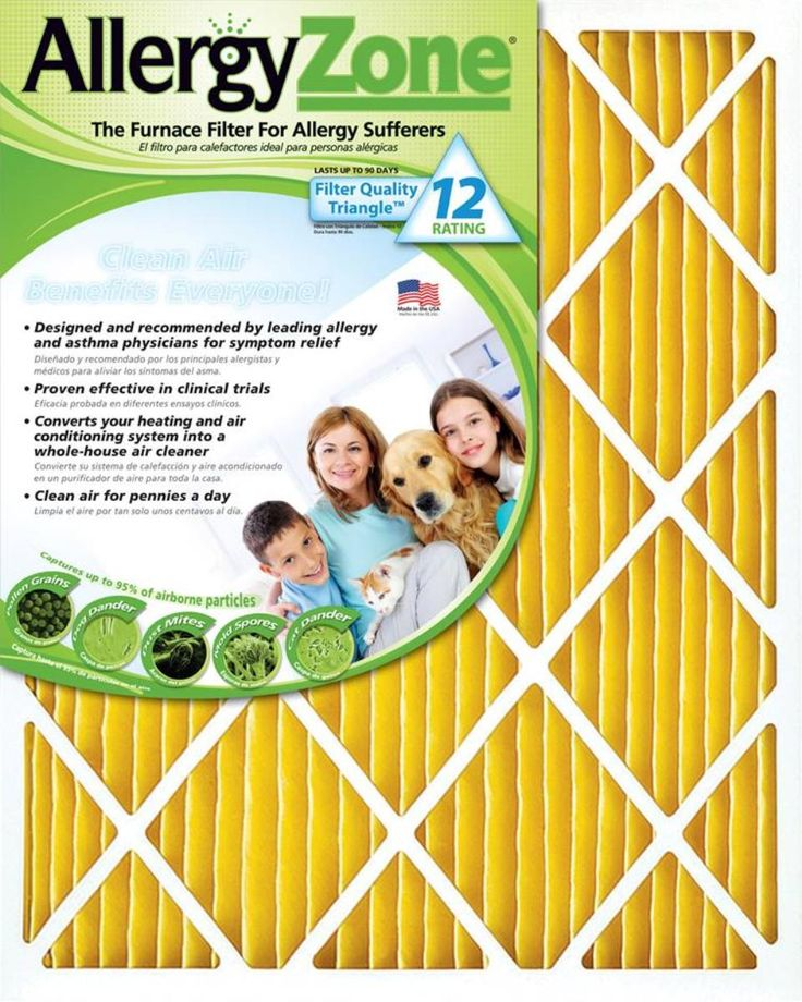 AllergyZone AZ1620 Furnace Air Filter: Allergy Furnace Air Filter for allergen control Size 16X20x1 the only… #coolers #ac #airconditioners