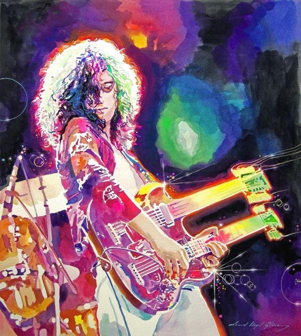 Rain Song --- Jimmy Page by David Lloyd Glover