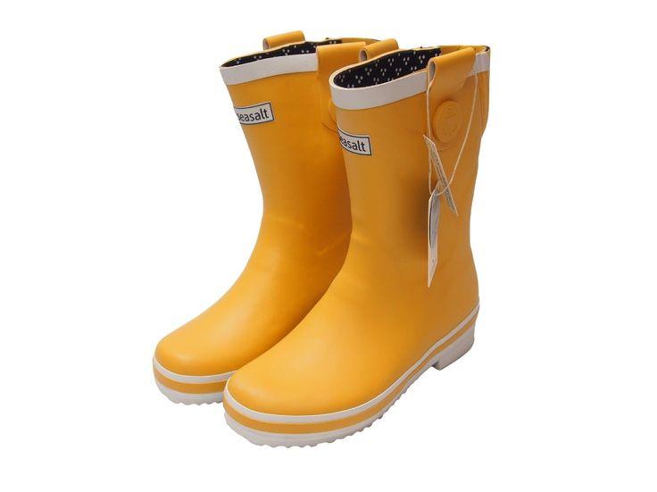 Seasalt Ladies Short Deck Wellies Mustard Yellow | eBay
