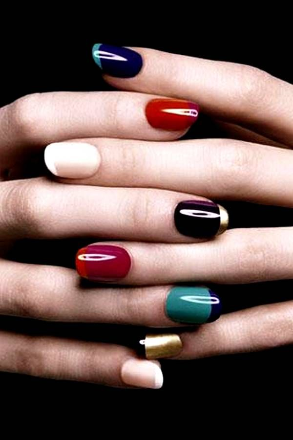 Colored French Manicure                                                       …