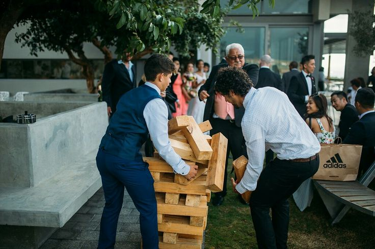 Giant Jenga to entertain your guests at pre-drinks Www.ido4u.co.za