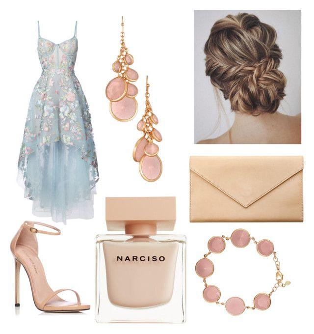 """Untitled #71"" by danaemf on Polyvore featuring Notte by Marchesa, Stuart Weitzman, Carré Royal, Avon and Narciso Rodriguez"