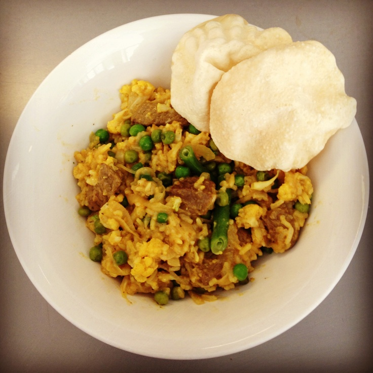 Delicious and healthy curry - 12wbt Lamb Biriyani - so good!