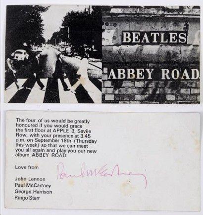 Beatles album launch invitation starts at $200