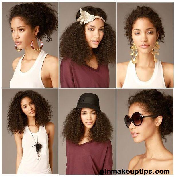 Coiffure cheveux frises facile