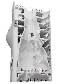 Reuse of wastewater treatment silo as rock climbing gym by NL Architects