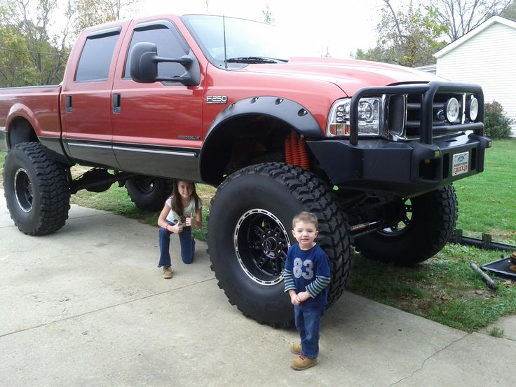 "Not a Red F-150 yet --- ""Monster "" Lifted Red Ford F-250 ..."