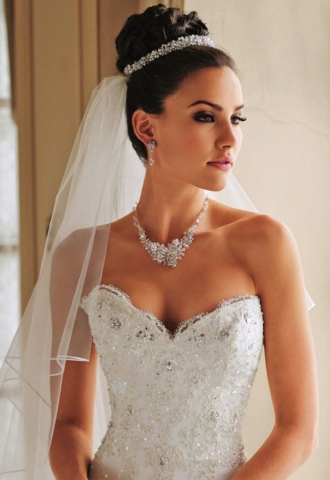 Brautfrisuren Mit Diadem Hochgesteckt How To Do Wedding Hair Style