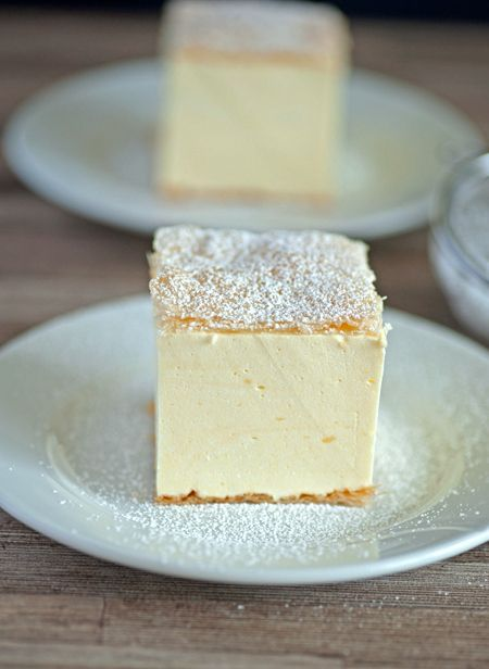 Krempita - 2 sheets puff pastry, 6 1/3 C milk, 5 1/4 oz cornstarch, 1 oz vanilla sugar, 8 egg yolks, 7 oz sugar, 8 oz whipping cream. Prebake pastry. Mix egg yolks w/ sugar till frothy. Add one cup of milk & corn starch. Mix well. Bring remaining milk w/ vanilla sugar to boil. Once it comes to a boil, temper & slowly mix in the yolk mixture. Wisk for one minute. Cool completely. Add whip cream. Spread filling over cool puff in 9x13 pan & lay 2nd sheet on top. Chill 2+ hours. Dust w/ xxx…