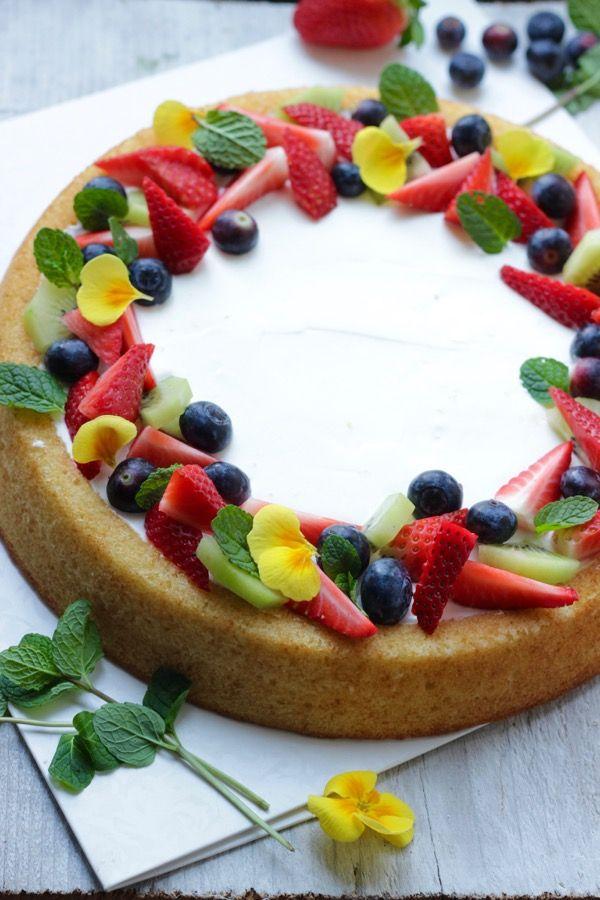 Oggi a La Prova del cuoco: Torta morbida con frutta fresca