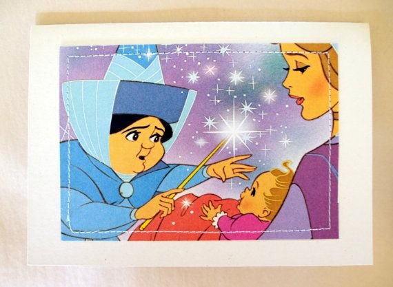 Sleeping Beauty new baby Greeting Card  book by MagpieSailor, $3.50