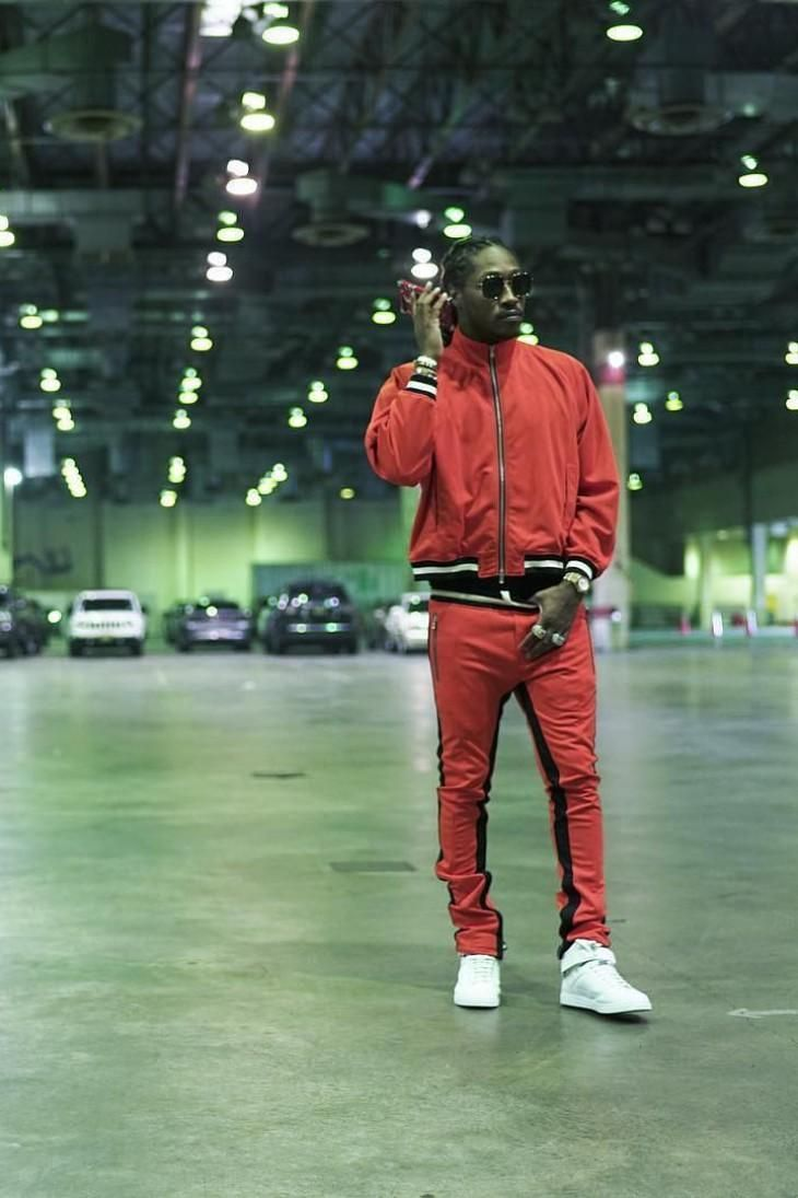 buy online 07735 13b99 Future is dressed down in a Fear of God red tracksuit   Future in 2019    Balenciaga sneakers, Red tracksuit, How to wear