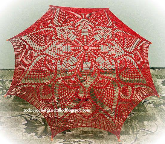 Cómo hacer una sombrilla tejida al crochet / tutorial 3 modelos en español | Todo crochet