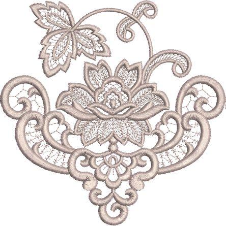 Sue Box Creations | Download Embroidery Designs | 34 - Fleur Border