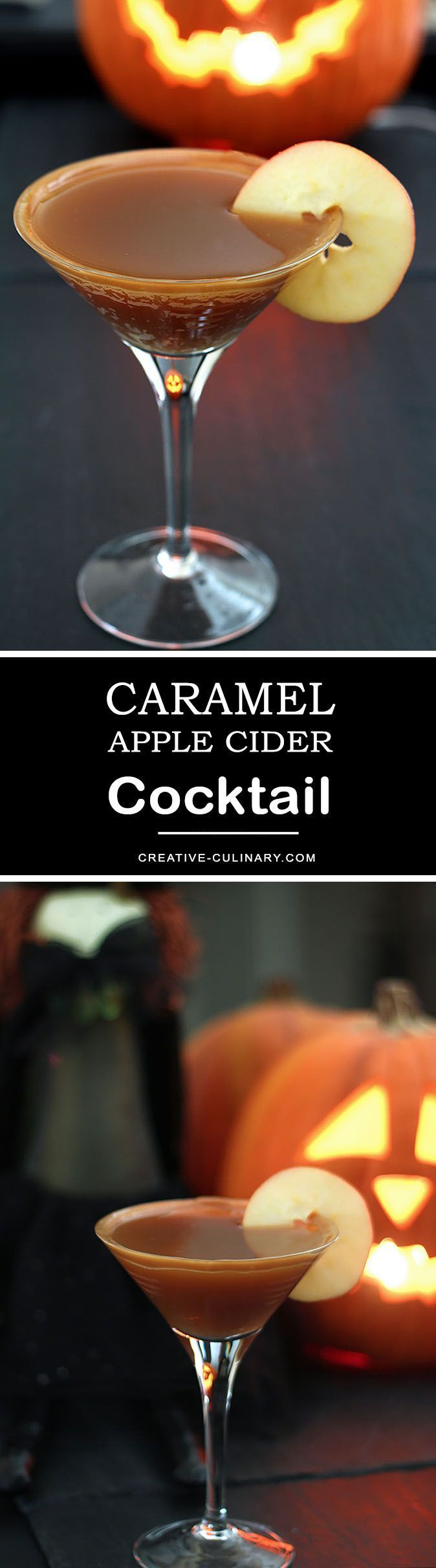 Pretty much the perfect Fall treat, this Caramel Apple Cider Cocktail is sweet with caramel and apple cider but with the perfect punch from vodka! via @creativculinary