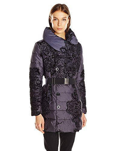 Desigual Abrig_Veronica, Manteau Femme, Multicolore (Gris/Noir) (Navy 5000), 44 (Taille Fabricant: 44): Tweet Doudoune Desigual Veronica…