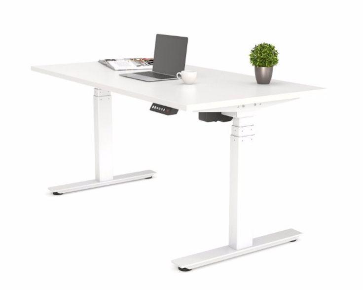 OLG Agile Height Adjustable Electric Desk 3 Column 610-1240mm White – Dunn Furniture