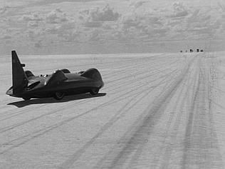 In 1964, Briton Donald Campbell flashed across Lake Eyre in his magnificent Bluebird at 403.1mph, achieving a land speed record. At year's end he had also set a world water speed record of 276.33mph in Bluebird K7 at Lake Dumbleyung, near Perth. He is the only person to set land and water records in the one year. He died in another record attempt in 1967.