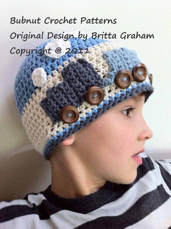Crochet Hat Pattern - Easy Peasy Train Hat Crochet Pattern No.109 Digital Download