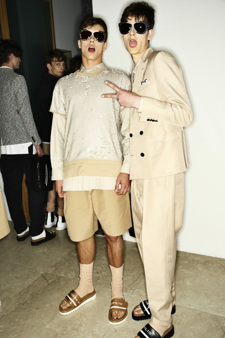 on the left, Rafael Starmach - Andrea Pompilio SS15, Milan