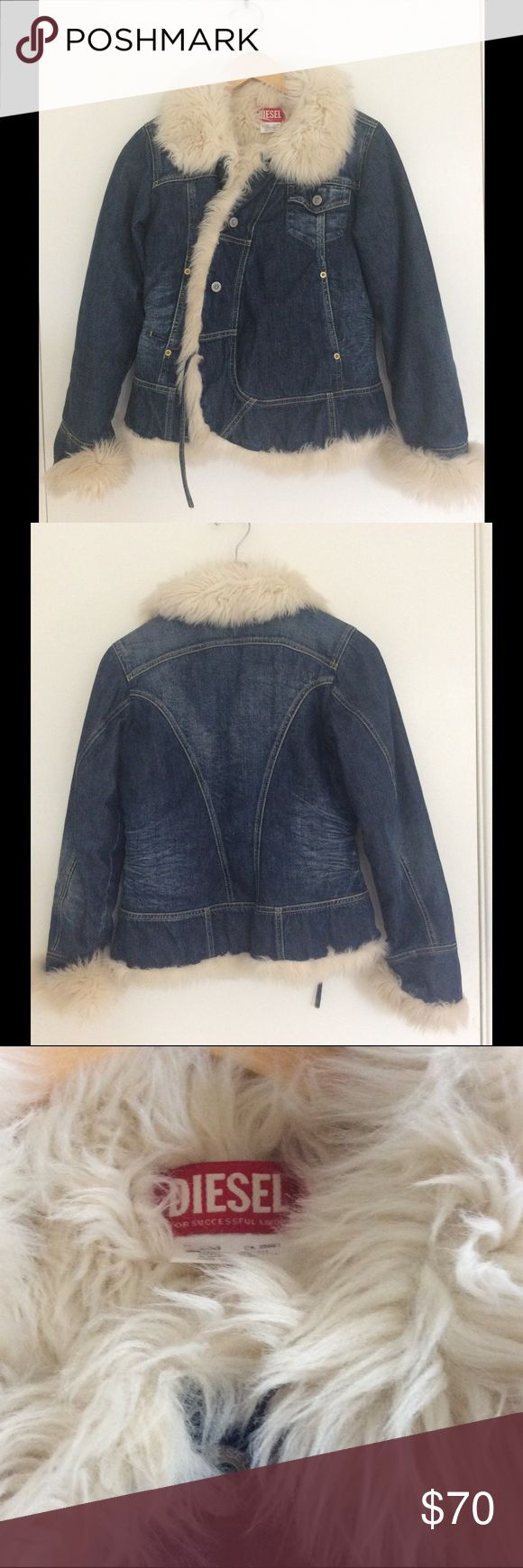 Diesel Denim Jacket Size Medium.  100 cotton.  Measures approximately 17 inches armpit to armpit when garment is laid flat.  Measures approximately 22 inches in length. Diesel Jackets & Coats