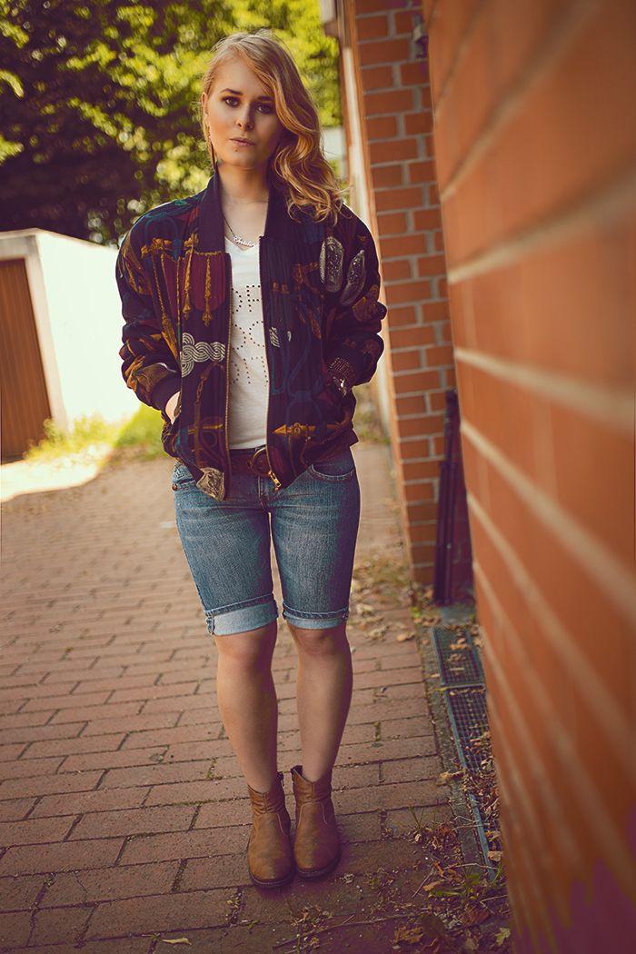 Vintage, Bomber Jacke, Bomber jacket