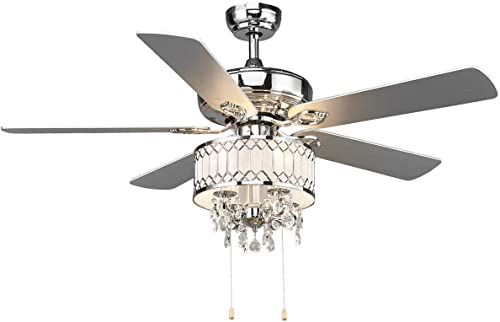 Amazing Offer On Tangkula 52 Classical Ceiling Fan Pull Chain Control Elegant Modern Ceiling Fans 5 Wooden Reversible Blades Elegant Metal Cover Mute Moto In 2020 Ceiling Fan Chandelier Crystal Ceiling