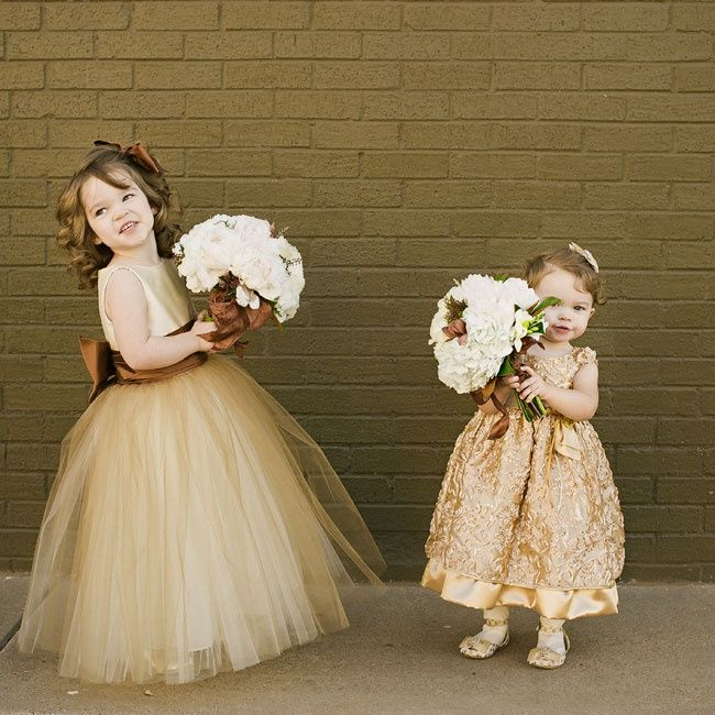 Copper Flower Girl Dresses Lissa Anglin Photography