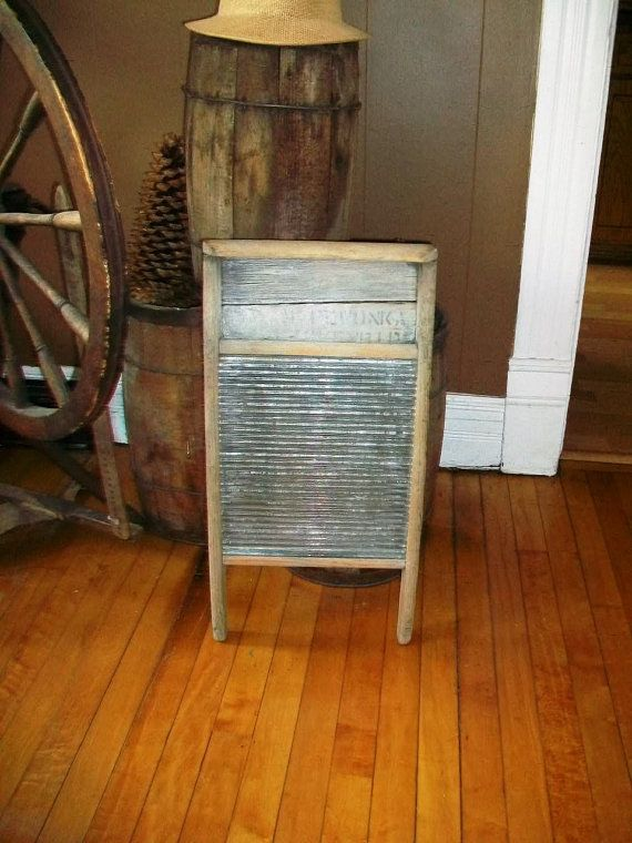 Vintage Glass Washboard Rustic Laundry Room 1930s on Etsy, $35.00