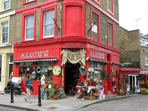Alice's Antique Shop in Notting Hill London- if you're going to venture West worth a look!