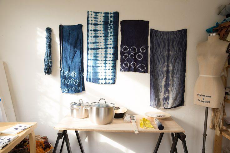 Shibori Indigo Dye tutorials