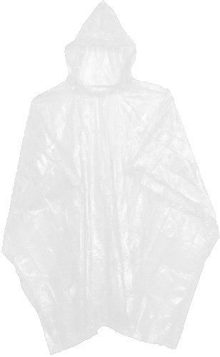 10 WHITE WATERPROOF DISPOSABLE PONCHOS MACS FOR OUTDOOR EVENTS