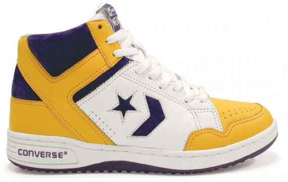 Magic Johnson Converse Weapons. Weighed a ton with almost no cushioning, but one of the most iconic kicks of the 80's (and I had a pair just like these)
