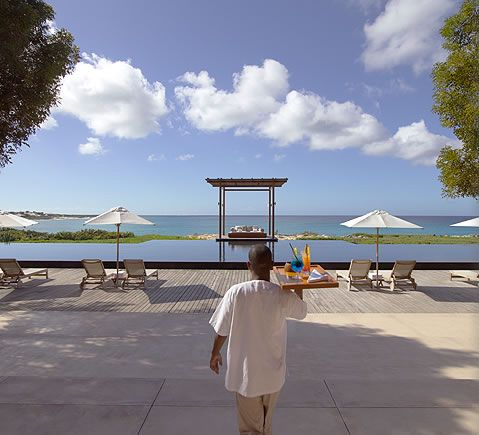 AMANYARA swimming pool and sun loungers. #amanyara #turks #caribbean #island #travel #secret #escapes amanyara.com