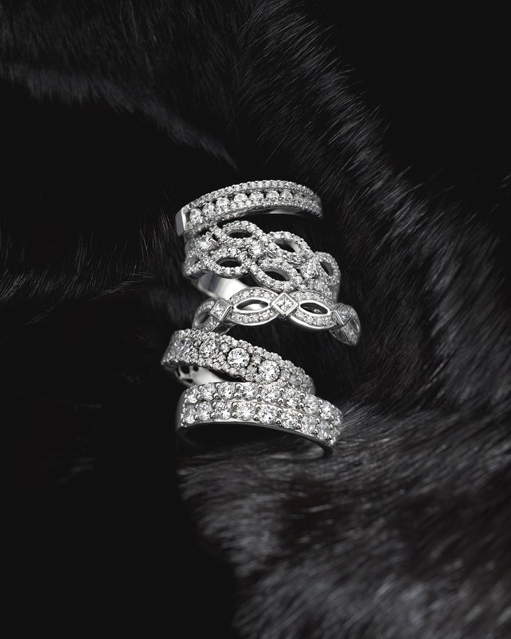 We have different styles of diamond bands to cozy up to!