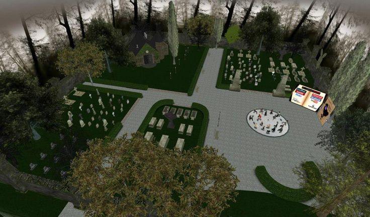 """Nebbia, cipressi e tombe: ecco il cimitero creato da @Libriamo Tutti per l'intervista con Arianna Gasbarro, autrice di """"Requiem del Dodo""""."""
