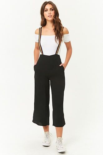 4478a1f0284 Striped-Strap Suspender Culottes